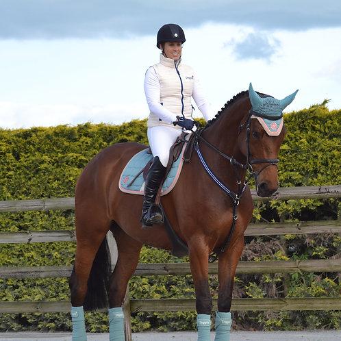 Dapple Teal Eventing Saddle Pad