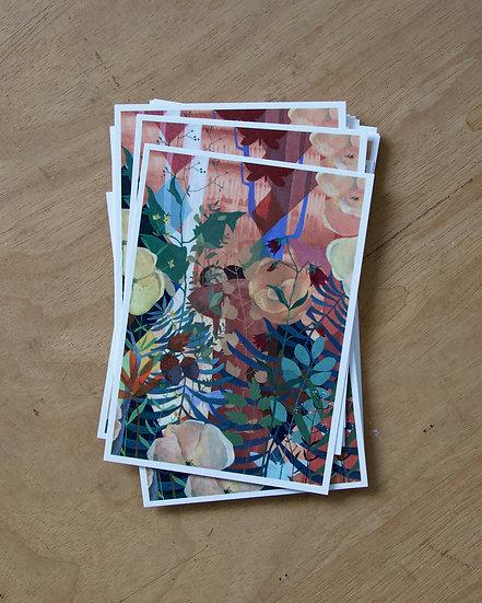 Liebende - Postkarte