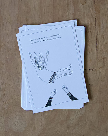 Fallenlassen - Postkarte