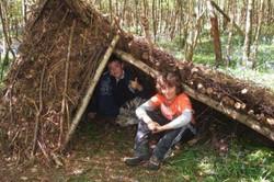 Children on a Wild Wood Bushcraft course