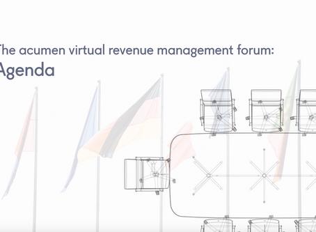 The virtual acumen revenue management forum: agenda