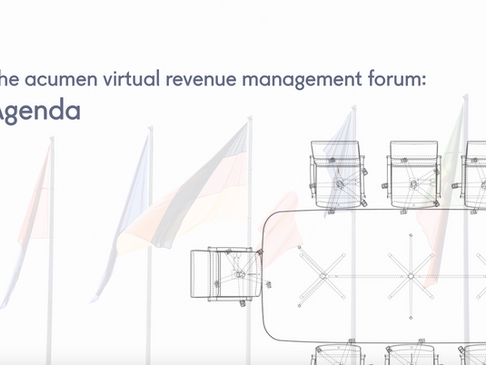 The virtual acumen revenue management forum: agenda
