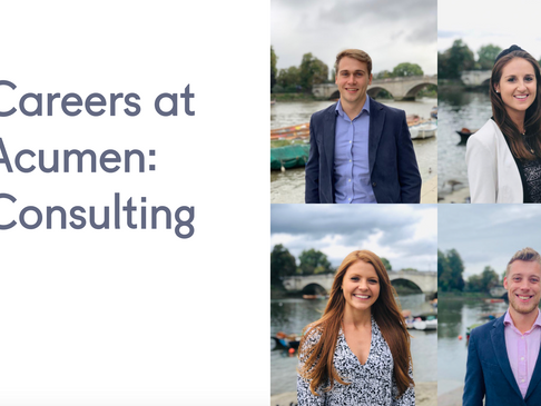 Careers at Acumen - What does a role in consulting mean?