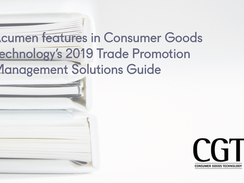 Acumen features in Consumer Goods Technology's 2019 Trade Promotion Management Solutions Guide