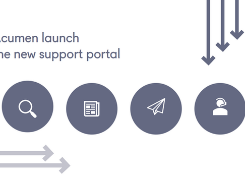 Acumen launch the new support portal