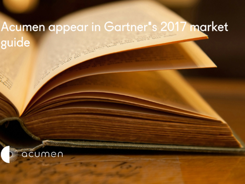 Acumen appear in Gartner's 2017 Market Guide for TPM/TPO