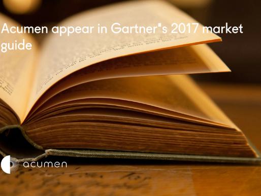 Acumen appear in Gartner's 2017 Market Guide for Trade Promotion Management & Optimisation