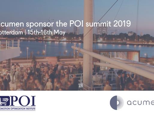 Acumen sponsor the POI summit 2019
