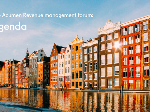 The European Acumen Revenue Management Forum: Agenda