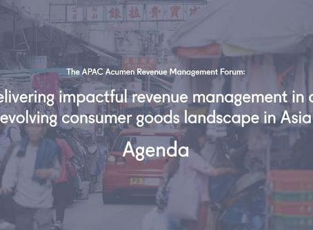 The APAC Revenue Management Forum: Agenda