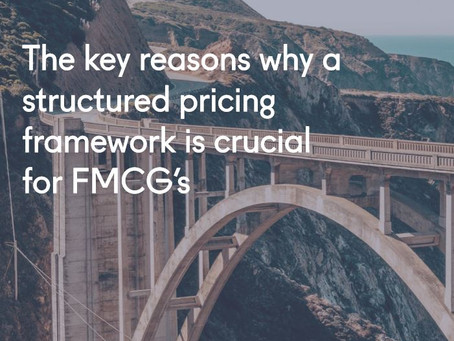 The key reasons why a structured pricing framework is crucial for FMCGs