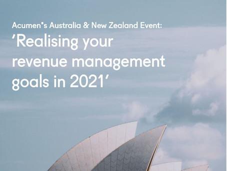 Acumen's Australia & New Zealand event