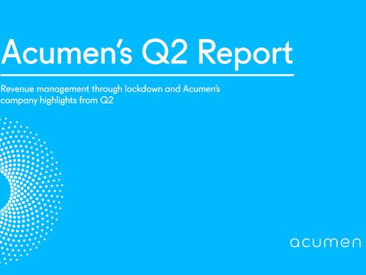 Acumen's Quarterly report