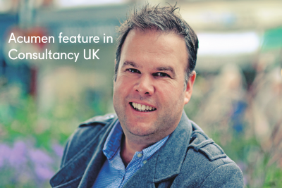Acumen's CPO, Matt Wills, publishes content with Consultancy UK