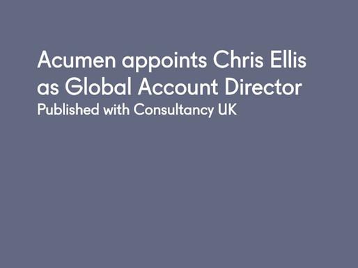 Acumen appoints Chris Ellis as Global Account Director