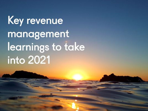 Key revenue management learnings to take into 2021