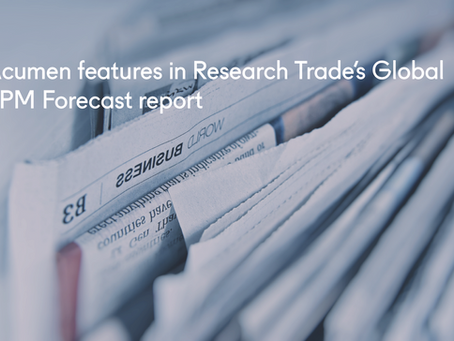 Acumen features in Research Trade's Global TPM Forecast report