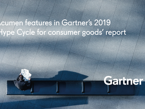Acumen features in Gartner's 2019 'Hype Cycle for consumer goods' report