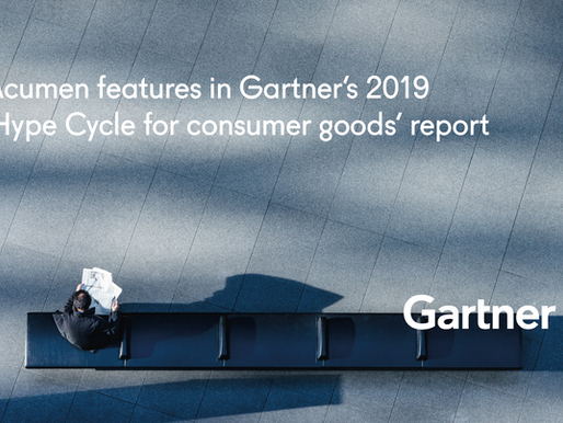 Acumen features in Gartner's 2019 'Hype Cycle for consumer goods' report
