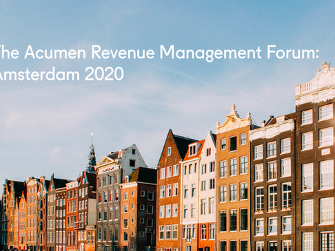 The Acumen Revenue Management Forum: Amsterdam 2020