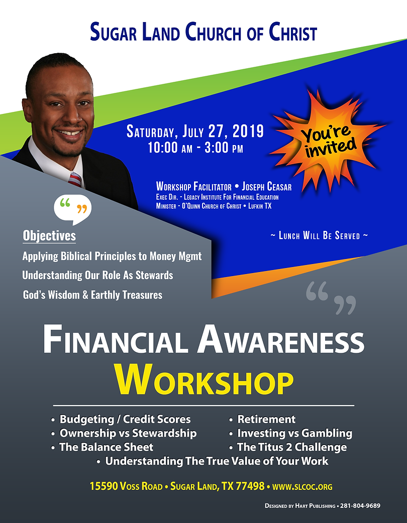 2919 Financial Awareness Workshop - FINA