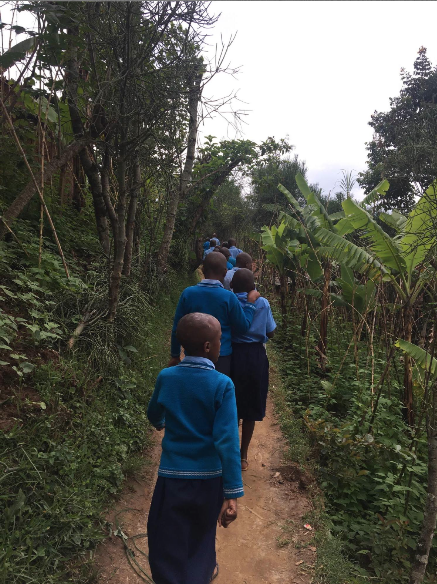 The walk to school.