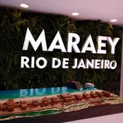Letreiro do estande Maraey no Rock in Rio 2019 área Vip