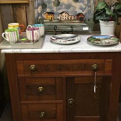 Victorian Marble Top Dresser (256)
