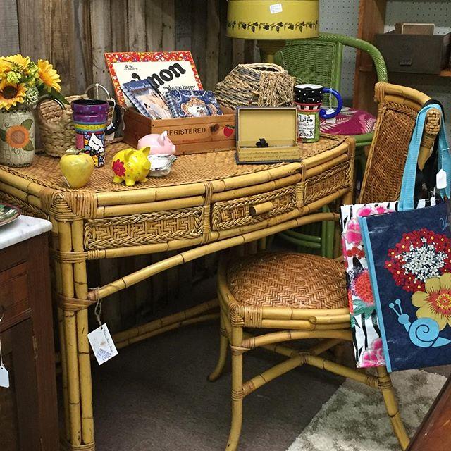 Rattan Desk, Bamboo Desk, Bamboo