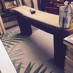 Log Cabin Table Bench Rustic