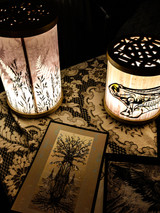 Bear to the world and Fern lamp