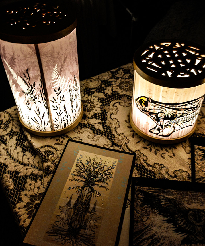 bear and fern table lamps