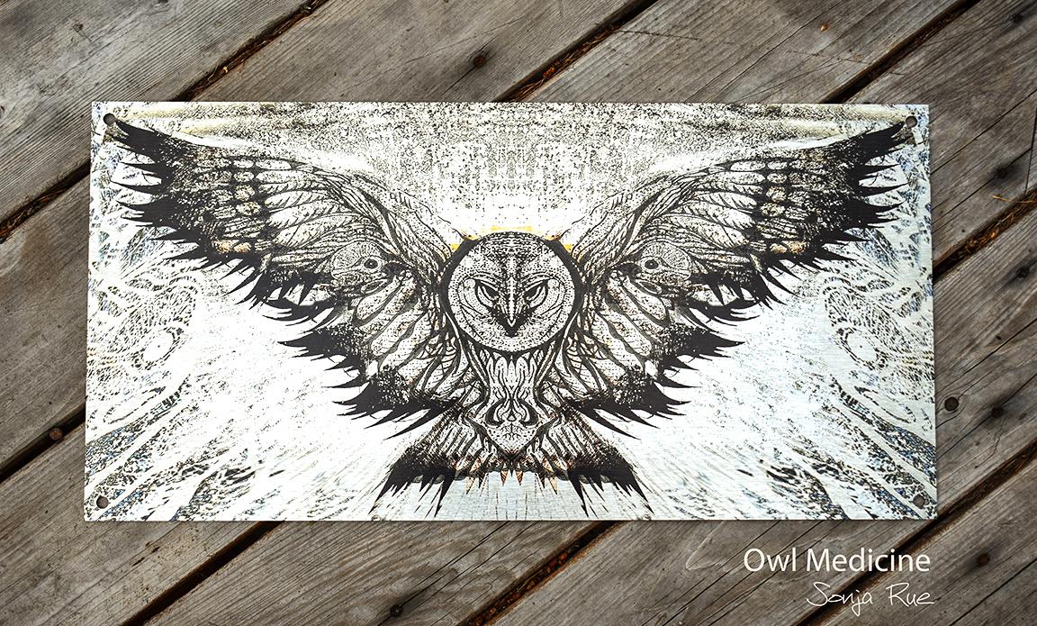 Owl medicine metal product shot 1