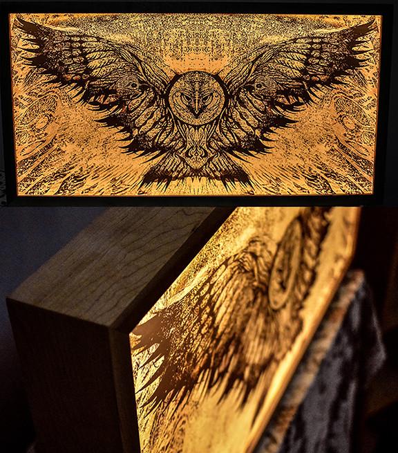 Owl medicine lightbox