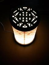 White peacock table top lantern