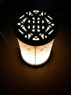 white peacock table lamp