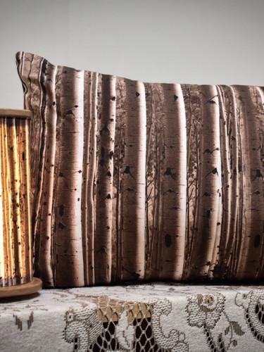 Birch mini round lamp + pillow