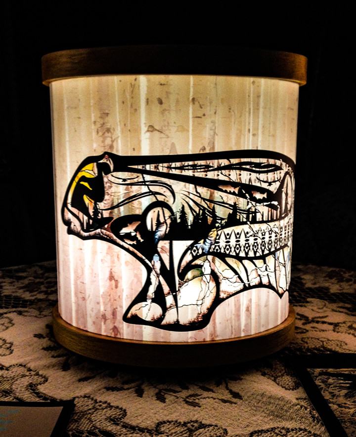 bear to the world lamp