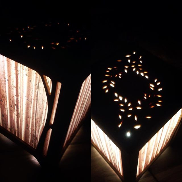 birch forest table lamp