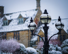 Traditional Cotswolds lamp post in Chipping Campden.