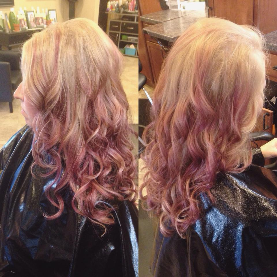 Pink Balayage Color