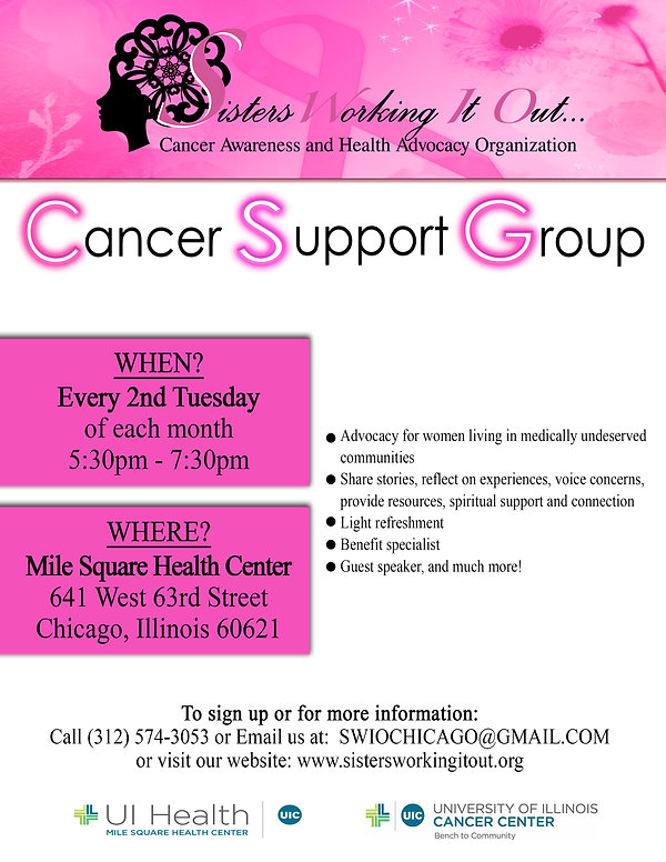 SWIO Cancer Support group flyer 2019-1-2