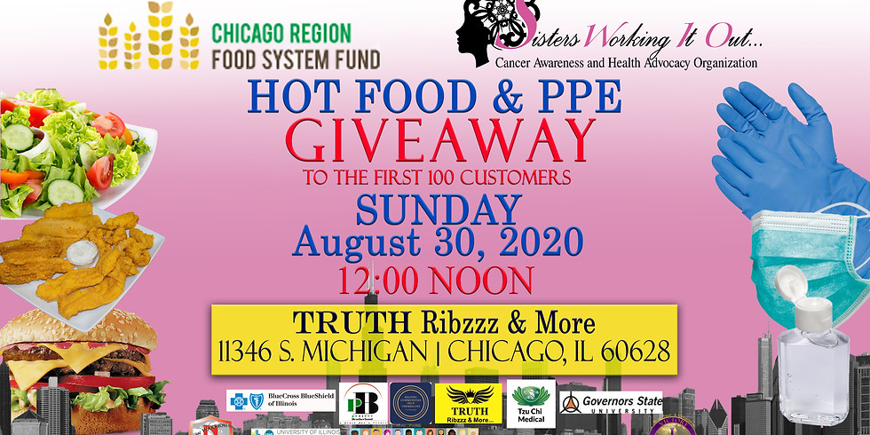 HOT FOOD & Personal Protection (PPE) GIVEAWAY