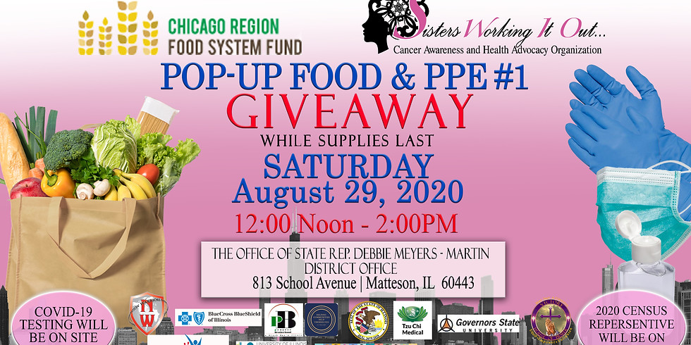 POP-UP FOOD & Personal Protection (PPE) GIVEAWAY #1