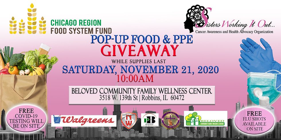 POP-UP FOOD & Personal Protective Equipment (PPE) GIVEAWAY