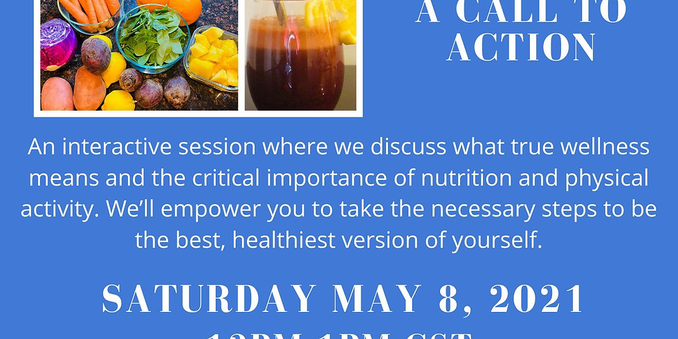 Let's Talk Wellness with tfal&chi:                    A Call to Action