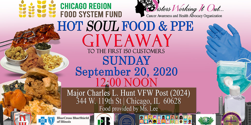 HOT SOUL FOOD & Personal Protection (PPE) GIVEAWAY