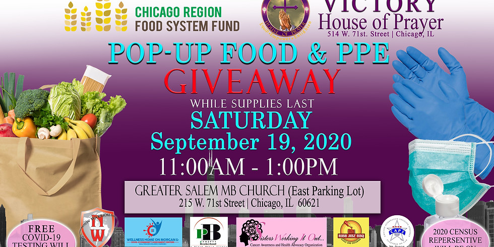 POP-UP FOOD & Personal Protection (PPE) GIVEAWAY