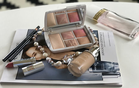 Artistic composition with cosmetics