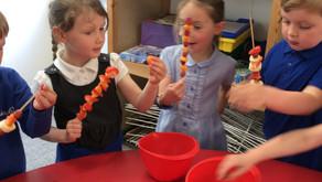 Team 1 Fruit Kebabs